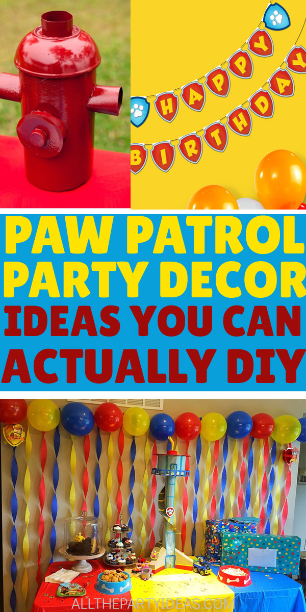 12 Diy Paw Patrol Party Supplies Decoration Ideas Free
