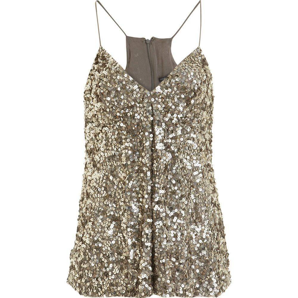 82d4fd979ee Dressy and looks tummy flattering! Gold Sequins