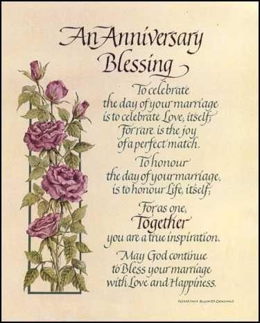 Blessing prayer for wedding anniversary