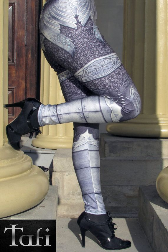 bcc3bba2f8a734 TAFI Steel Armor Leggings - Plate Chain Mail CosPlay Armour 3D Printed  Design Galaxy Dance Costume