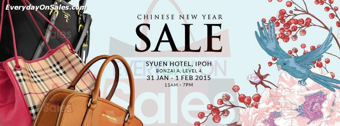 b740c190ac7e 31 Jan-1 Feb 2015  Celebrity WearHouz Chinese New Year Clearance Sale Event  for Handbags Discounts at Syuen Hotel Ipoh Perak