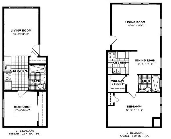 2 Options Bedroom Apartment Floor Plan 1 House Plans Studio