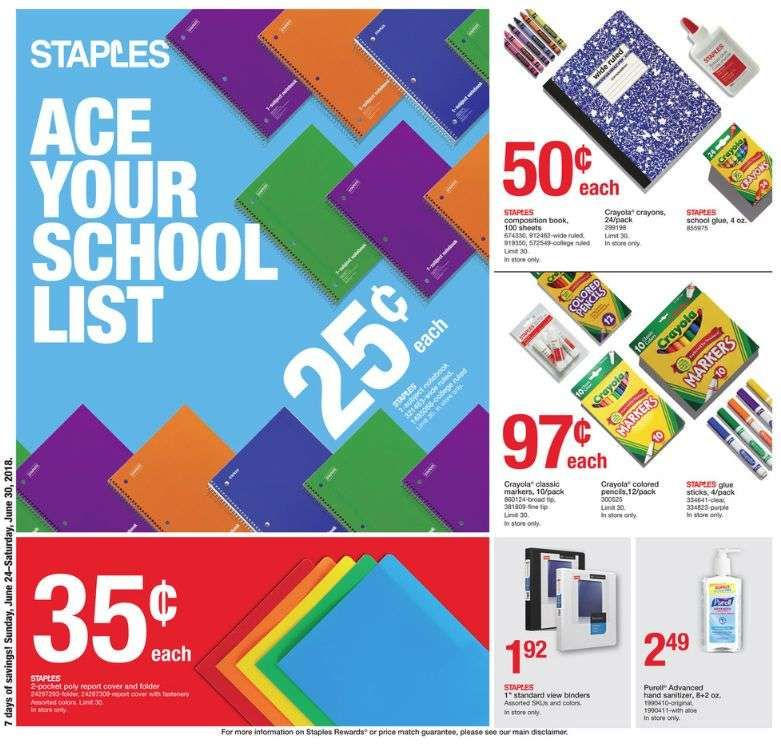Staples Back to School Deals 2018 | School Supplies, Clothes