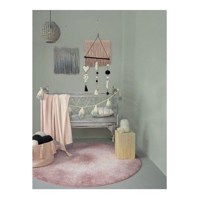 TIE-DYE Vintage Rose et blanc rond en coton lavable pour chambre ...