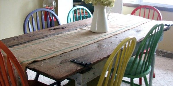 Delightful #156   Making A Recycled/Repurposed Dining Table (Video)