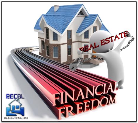 Obtaining Financial Freedom Through Real Estate Real Estate Estates Cash Buyers