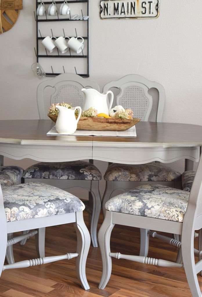 French Style Dining Set Makeover