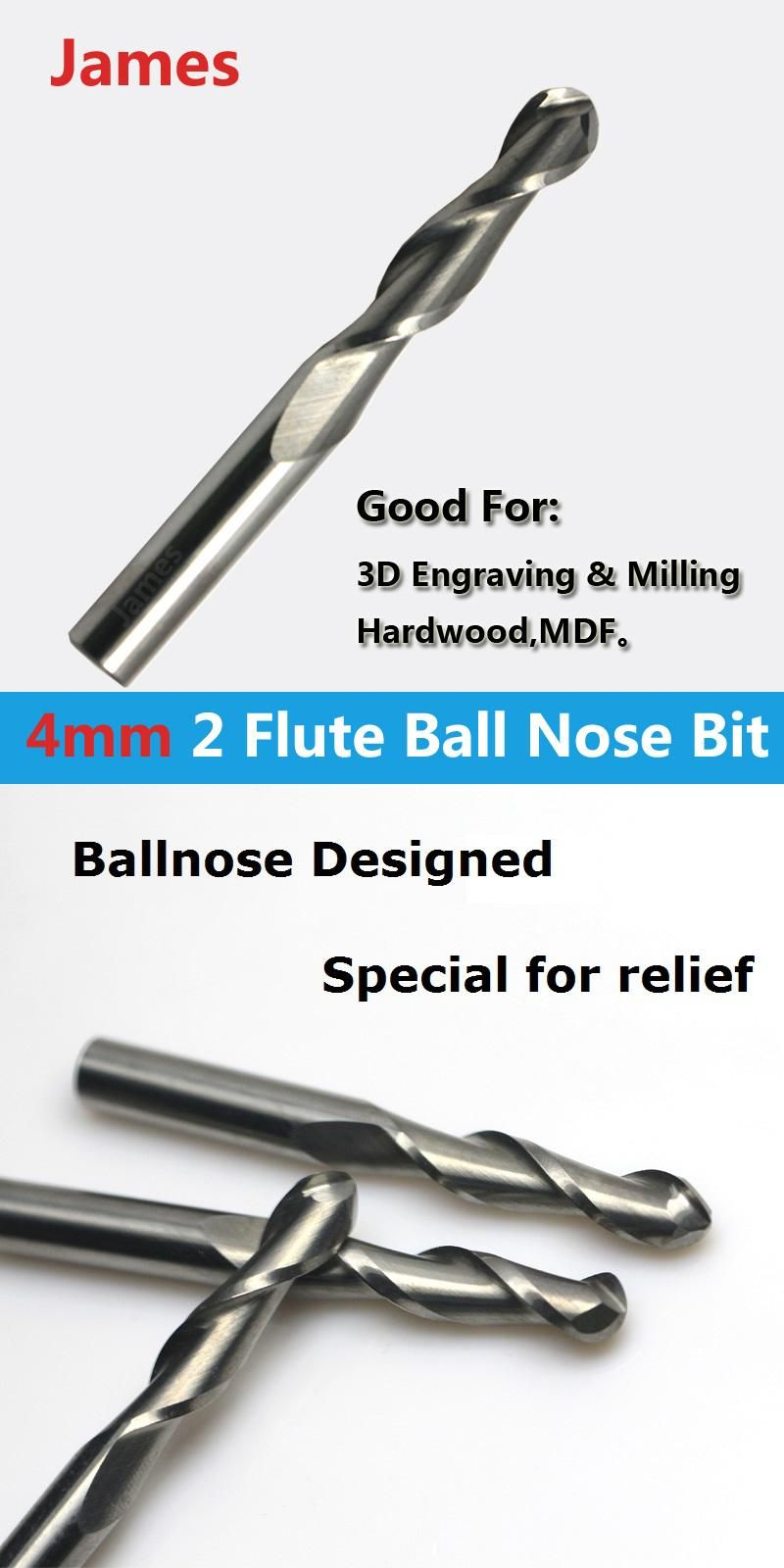 Visit To Buy 1pc 4mm Shk Ballnose Cnc Router End Mills Round