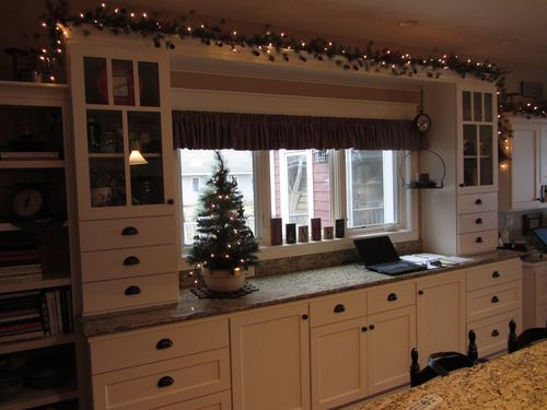 Garland with lights above cabinets | Home decor furniture ...