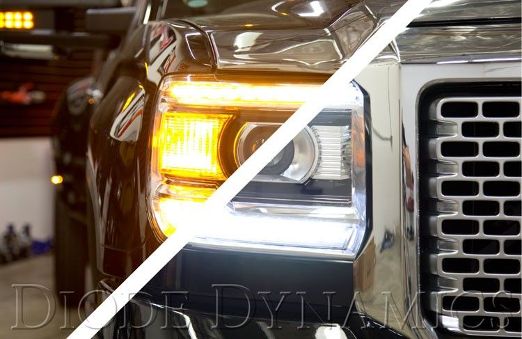 Recon Part 264295bkc Smoked Projector Headlights Gmc Sierra Denali 14 17 Smooth Oled Technology 2014 201 Projector Headlights Black Headlights Headlights