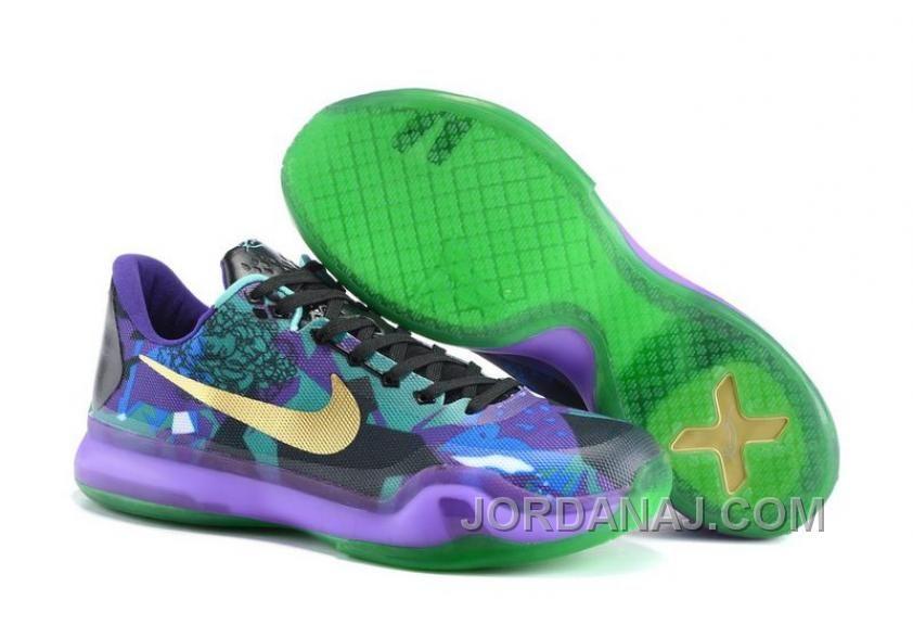 best cheap c3a93 9af72 Nike Kobe 10 EM XDR Purple Gold Blue Basketball Sneakers, Running Sneakers,  Nike Sneakers