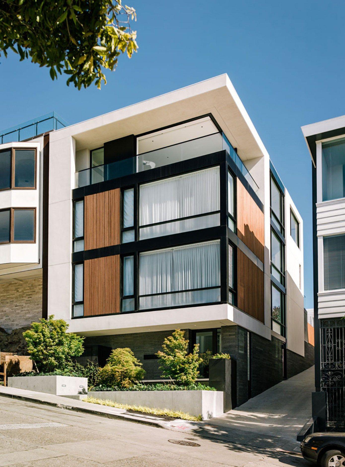 casa moderna em s o francisco architektur moderne h user und einrichten und wohnen. Black Bedroom Furniture Sets. Home Design Ideas