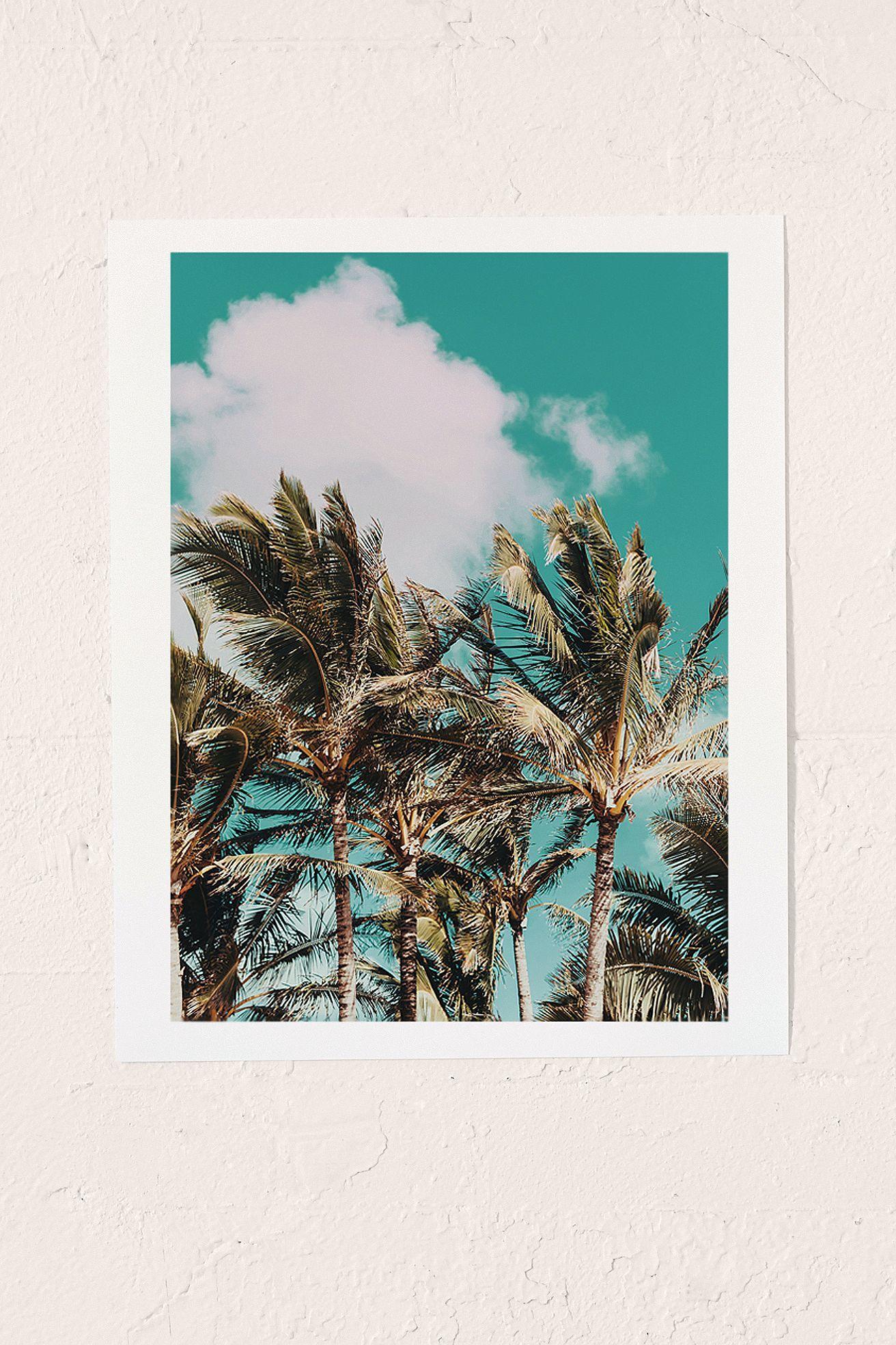 Leah Flores Palm Trees and Island Breeze Art Print Art