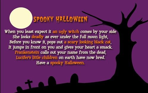 Scary Halloween Poems 6