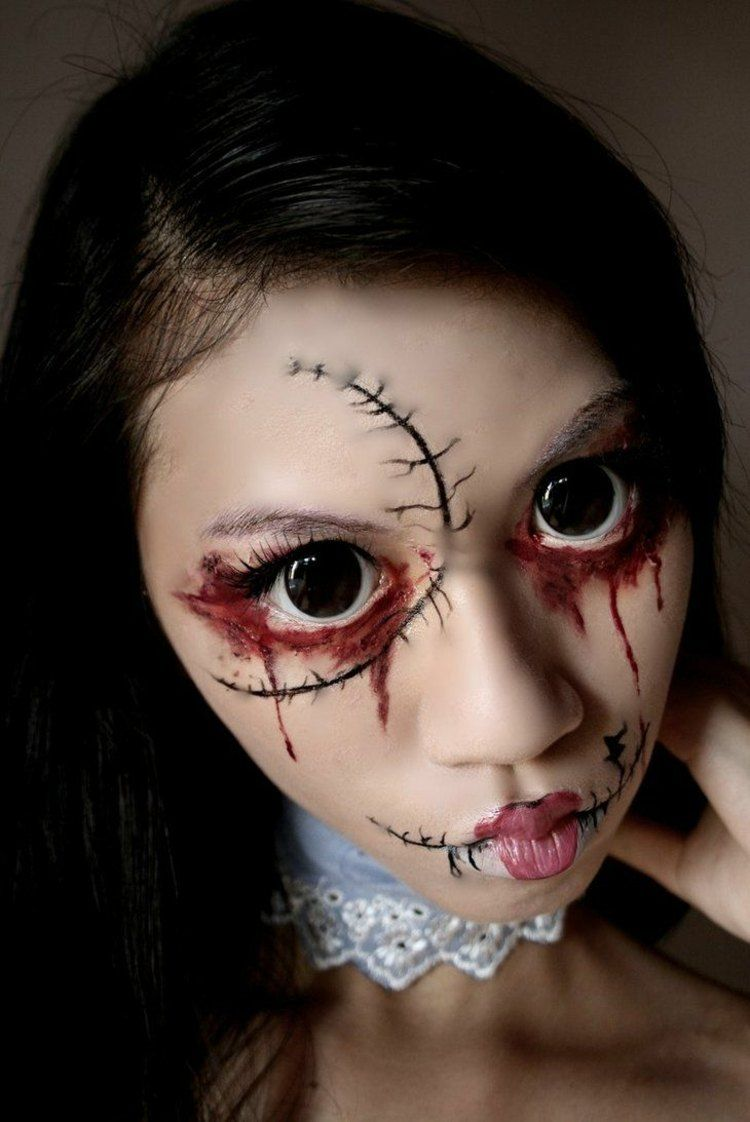 Kids' Halloween Makeup Ideas #Halloween #halloween2016 #happyhalloween #Kids #Makeup