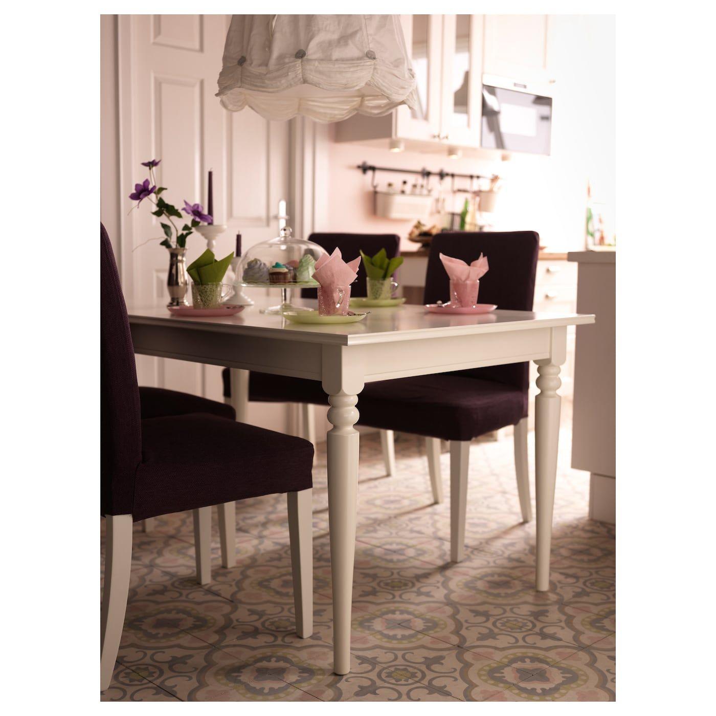 Ingatorp Table Extensible Blanc 155 215x87 Cm Ikea Table A Rallonge Salle A Manger Ikea Table Extensible Blanche