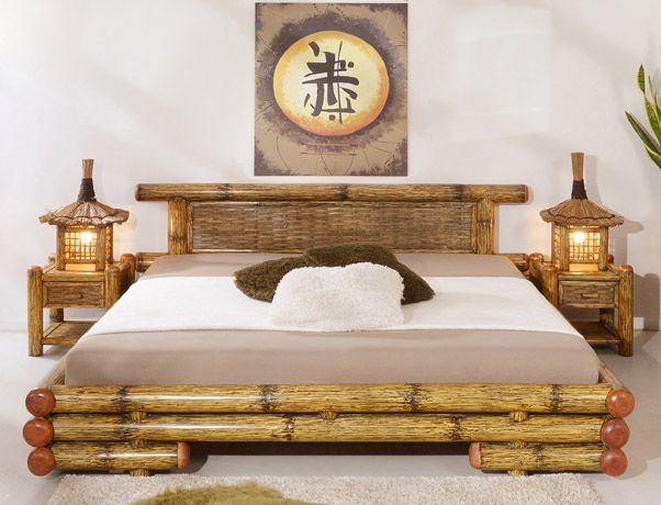 bambusbett bambus bett schlafzimmer bamboo furniture. Black Bedroom Furniture Sets. Home Design Ideas