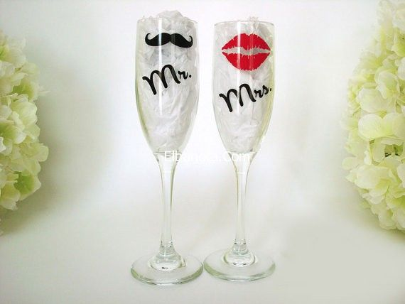 كاسات الزفاف 2014 اشكال كاسات زفاف تزيين كاسات الزفاف ليلة العمر عروس بنوته ب Toasting Flutes Wedding Bride And Groom Glasses Wedding Champagne Glasses