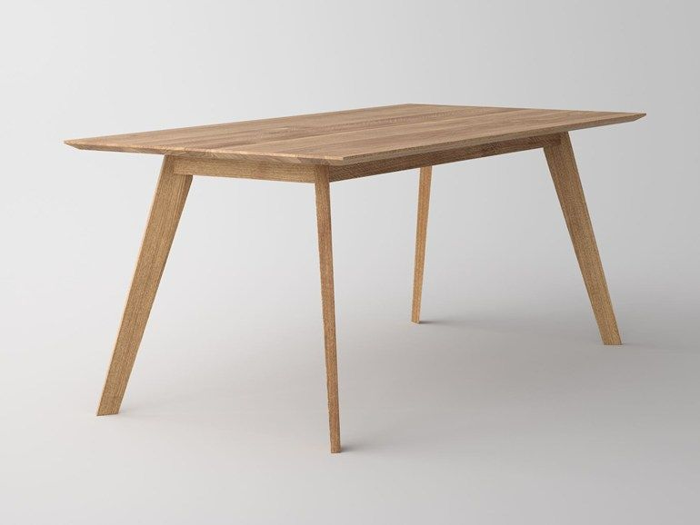 Rectangular Solid Wood Table Citius By Vitamin Design Design Gg