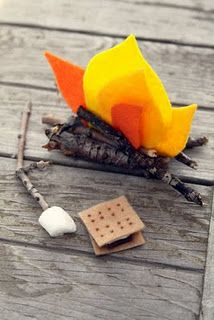 Doll S'Mores and Campfire Craft from Whimsy Love Blog!