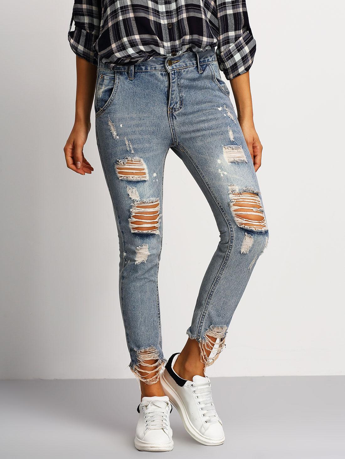 35496b650f Pantalones jeans skinny rotos 160325101      20.23 ...