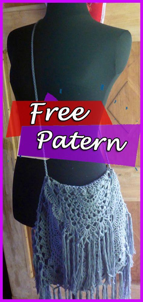 Crochet Bag Pattern Boho Free Easy Pinterest