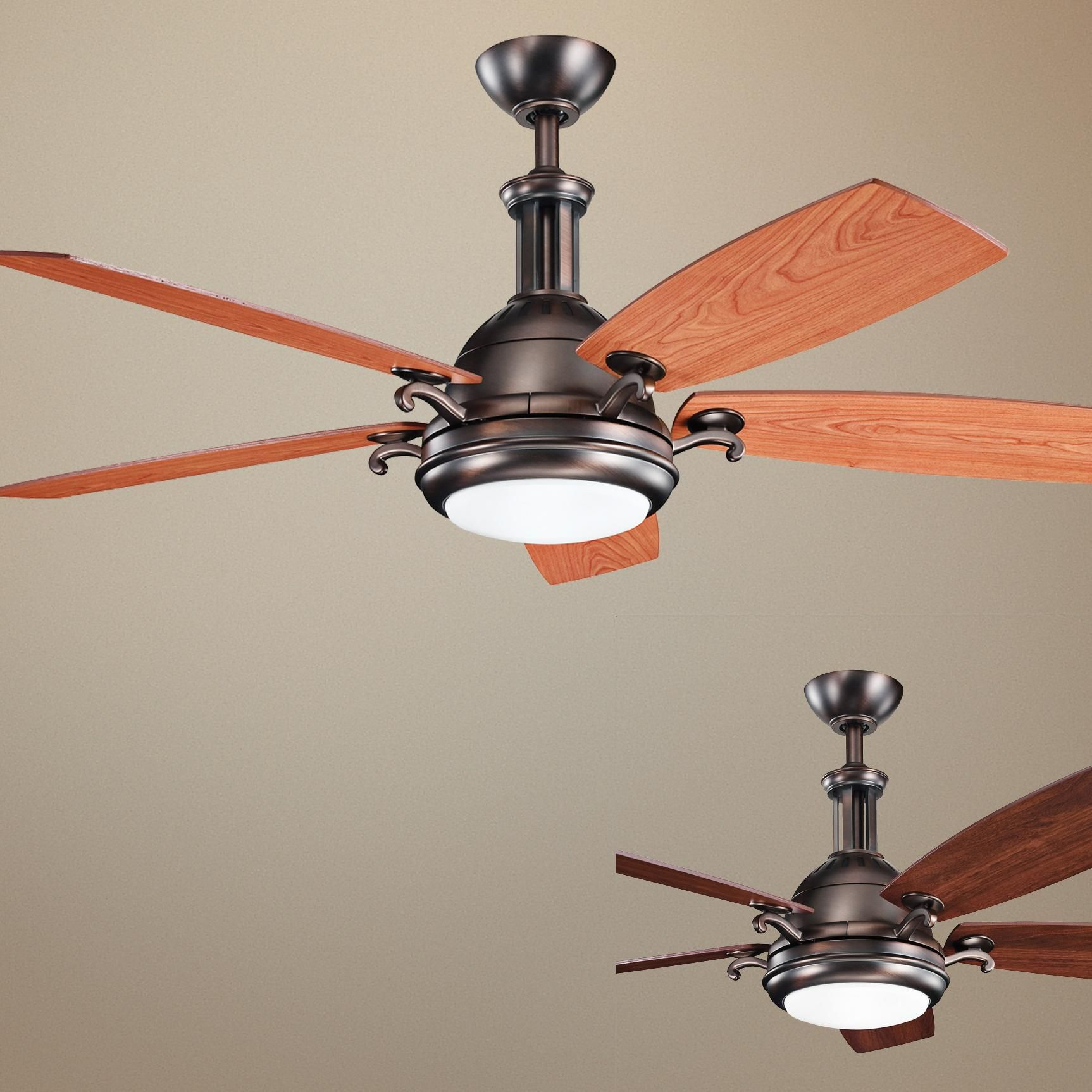 Kichler Malay 52 In Brushed Nickel Led Ceiling Fan With Light Remote Control And Light Kit 4 Blade Lowes Com In 2021 Ceiling Fan With Light Fan Light Ceiling Fan