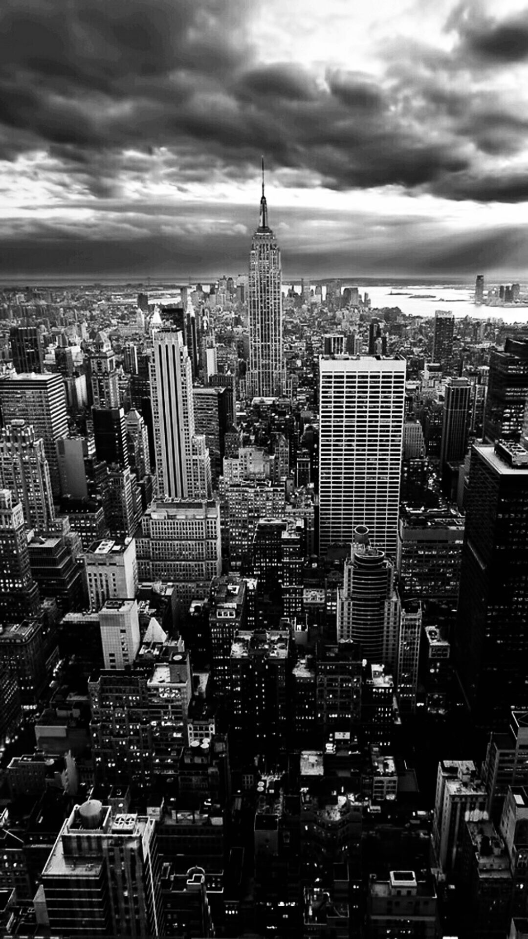 Manhattan Black And White Wallpaper Iphone New York Black And