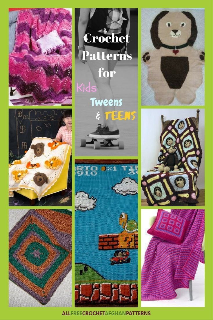 12 crochet patterns for kids tweens and teens afghan patterns 12 crochet patterns for kids tweens and teens bankloansurffo Image collections
