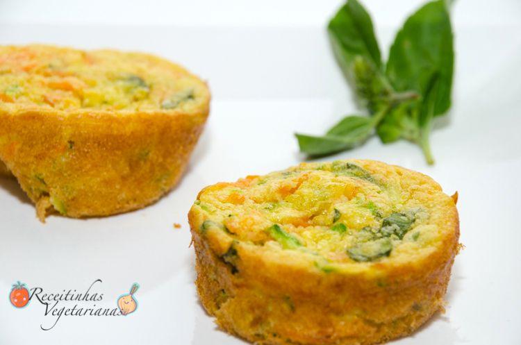 Receita de Muffin de cenoura e abobrinha | Pimenta e Sal, receitas para o dia-a-dia