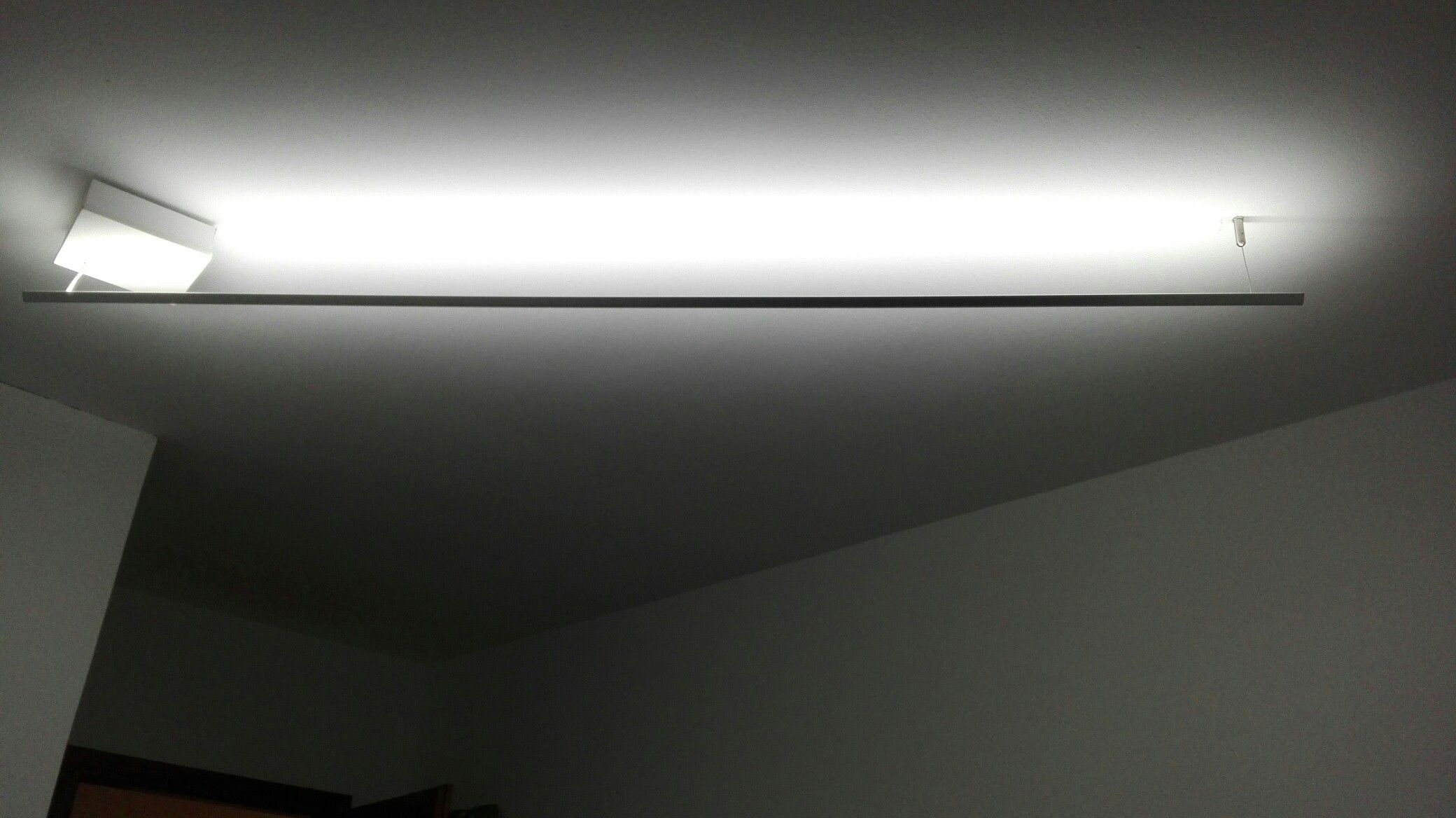 Plafoniere Da Bricoman : Lampadario realizzato con striscia led v di due metri