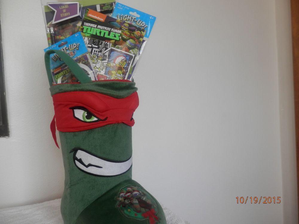 Teenage Toys For Christmas : Christmas teenage mutant ninja turtles stocking decoration gift