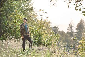 Lyon Falls Lookbook 2014.  lyonfalls.com #fallfashion #hellofall  Men's vintage camo jacket.