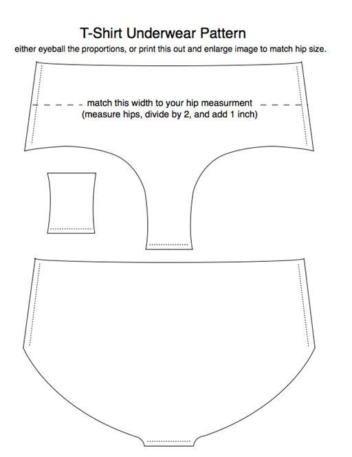 Free undie pattern: | yori | Sewing, Old t shirts, Underwear pattern