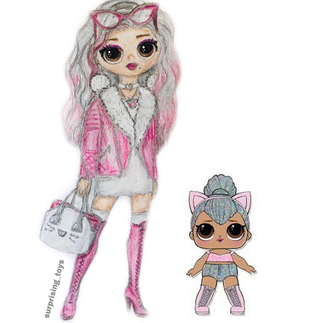 Surprise Dolls And Custom On Instagram My Artwork Of Kitty Queen Omg Doll Moj Art Kitty Queen Omg Lolomg Lo In 2020 Lol Dolls Doll Drawing Cute Dolls