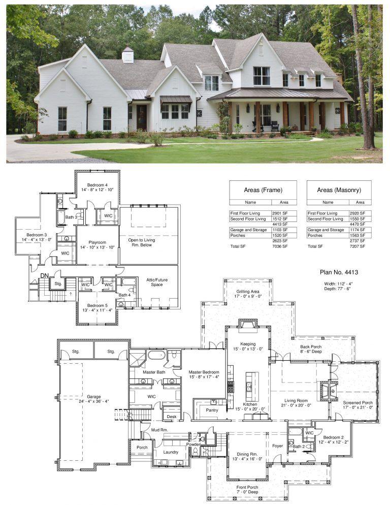 Plan 4413 Design Studio House Plans Farmhouse House Blueprints Farmhouse Plans