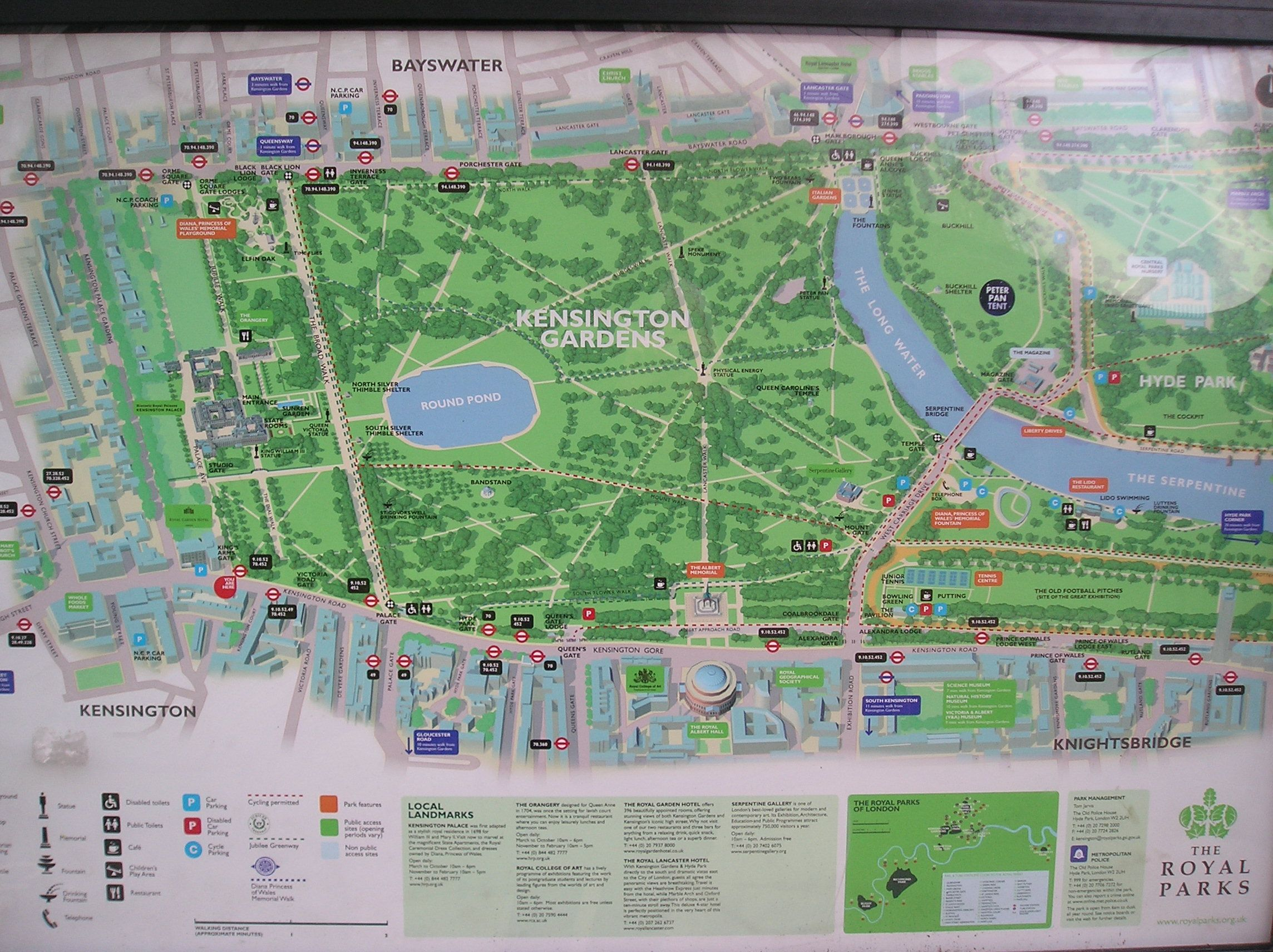 Kensington Gardens London Maps Pinterest