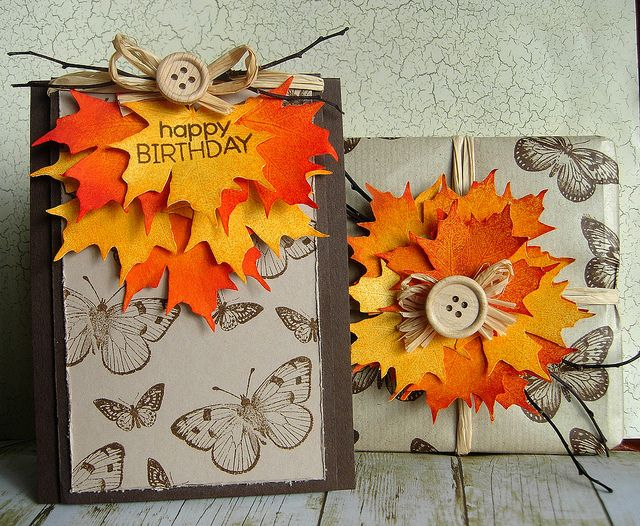 Autumn Birthday by Stamping and Stitching, via Flickr | Fall cards ...