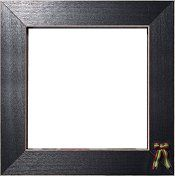 Button Frame - Christmas Bow 6x6 Black
