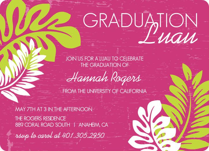 Outdoor Graduation Party Ideas BBQ Picnic Luau Invitaitons – Bbq Party Invitation Wording
