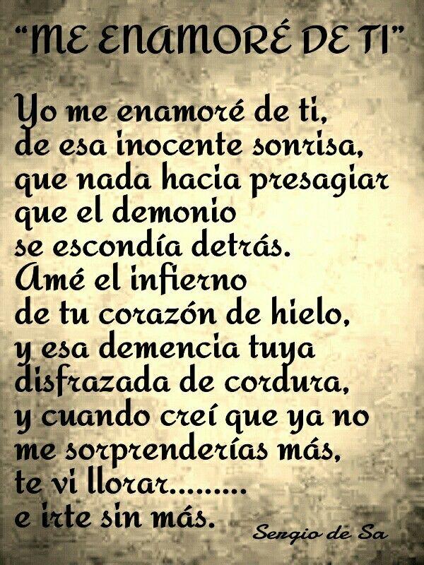 Me Enamore De Ti Quotes Phrase Sayings