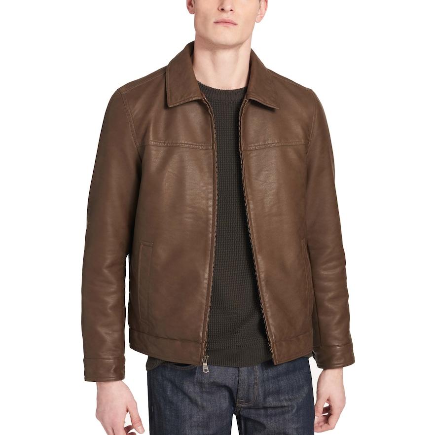 Men's Dockers James FauxLeather OpenBottom Jacket