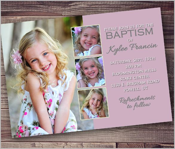 Baptism Invitation Template u2013 27+ Free PSD, Vector EPS, AI, Format - sample baptismal invitation for twins