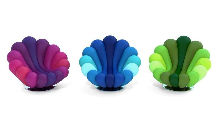 Elegant Anemone Armchair By Giancarlo Zema For Giovannetti