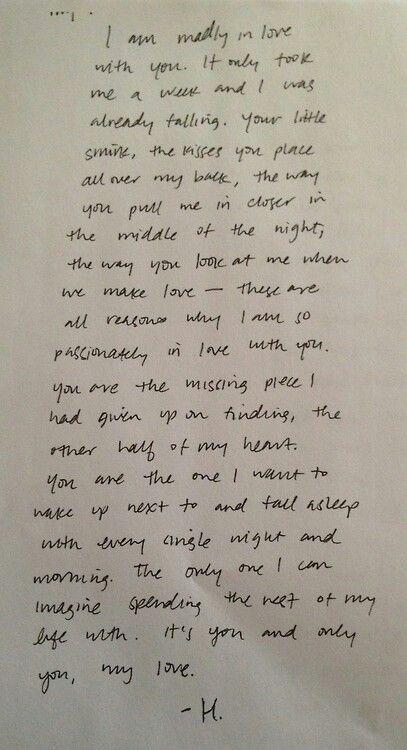 Pin by Kiri Vellucci on I ❤️My Heart!!! Pinterest Relationships - sample love letter