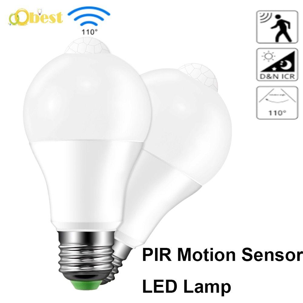 Sonido Inteligente Pir Sensor De Movimiento Luz Led Para Lampara 10w B22 E27 220v Bombilla De Induccion Escalera Pasillo Luz De Noche Color Blanco En 2020 Luces De La Noche Luz Led Y