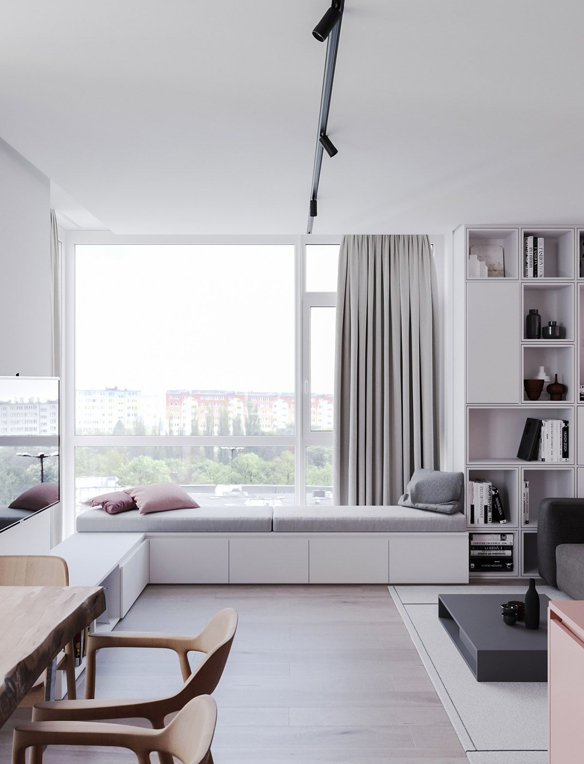 A Striking Example Of Interior Design Using Pink & Grey