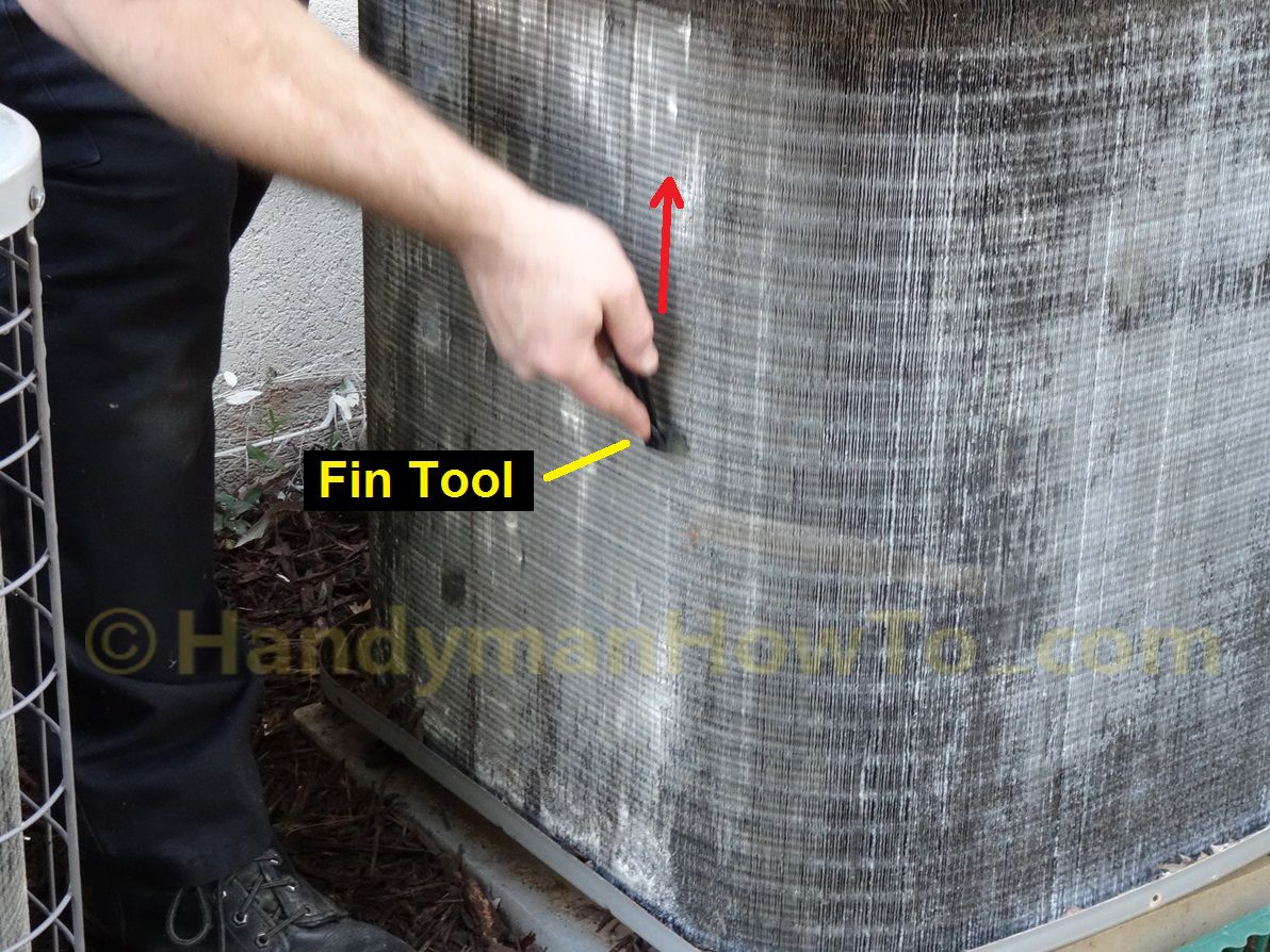How To Clean And Straighten Ac Condenser Coils Air Conditioner Maintenance Ac Condenser Condensation