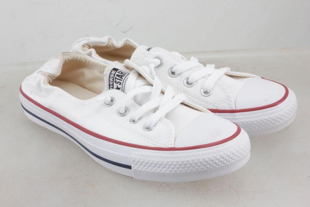 bdc9c360ab47 Converse Chuck Taylor All Star Shoreline White Lace-Up Sneaker Women US 7.5  B(M)  Converse  WalkingShoes
