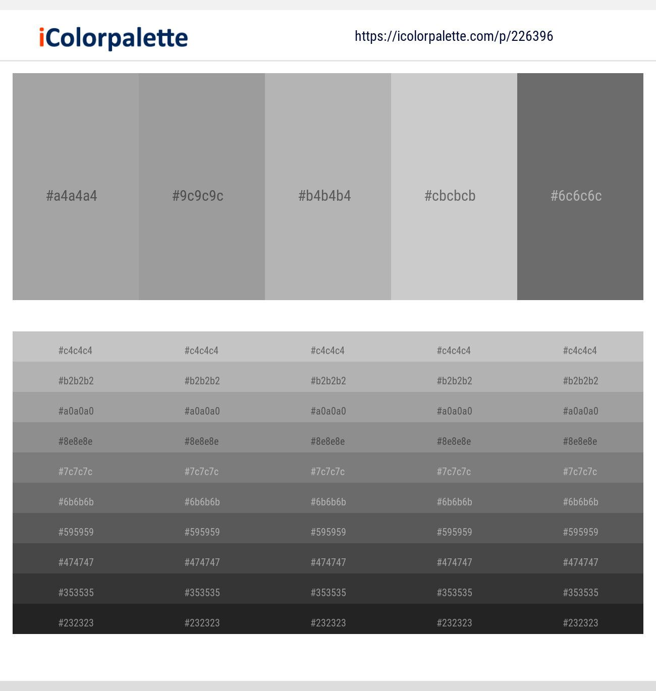 Pin On Gray Color Palettes